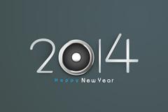 精致2014字体海报矢量素材