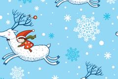 童趣圣诞插画矢量素材