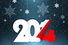 2014雪花新年海报矢量素材