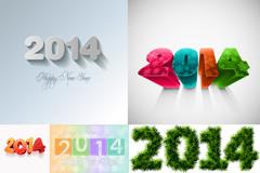 5款2014新年海报矢量素材