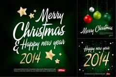 2014精美圣诞海报矢量素材
