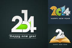 3款2014艺术字海报矢量素材