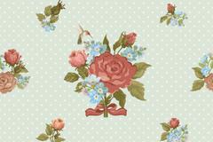 复古蔷薇花背景矢量素材