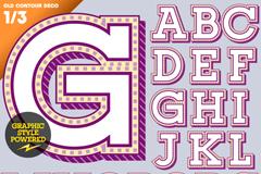 紫色立体字母设计矢量素材