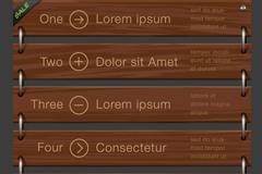 创意木质挂牌信息图矢量素材