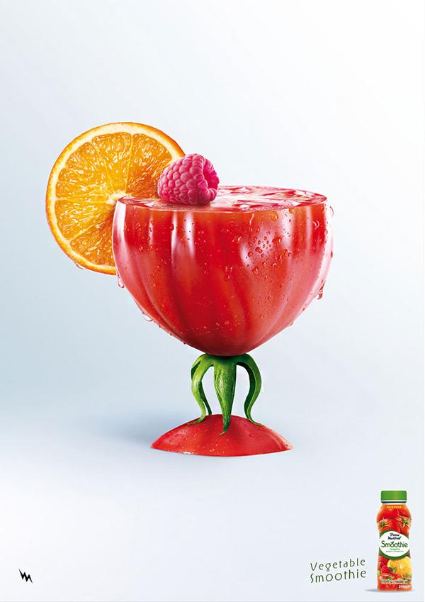 西红柿汁饮料广告