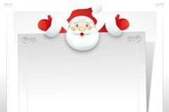 卡通圣诞老人文本背景矢量素材