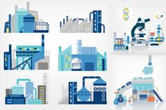 创意工业元素插画矢量素材