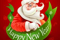 卡通圣诞老人背景矢量素材