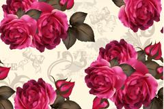 优美花卉背景矢量素材