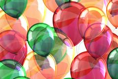 缤纷气球背景矢量素材