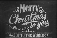 圣诞节粉笔艺术字矢量素材