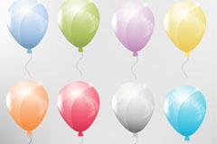 彩色气球设计矢量素材