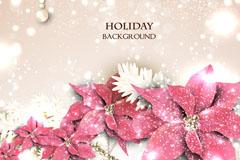 珍珠花卉假期背景矢量素材