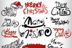 创意圣诞艺术字矢量素材