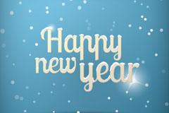 清新蓝色新年背景矢量素材