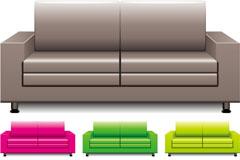 彩色时尚沙发矢量素材