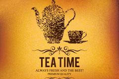创意下午茶海报矢量素材