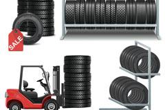 汽车轮胎矢量素材
