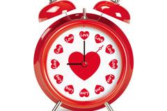 创意爱心闹钟矢量素材
