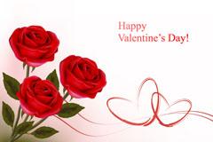 情人节玫瑰花背景矢量素材