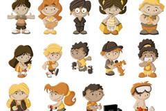 卡通儿童设计矢量素材