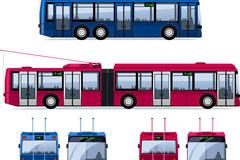 卡通电车设计矢量素材