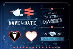 精美婚礼标签花纹矢量素材