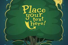 3款卡通树木背景矢量素材