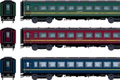 卡通火车车厢矢量素材