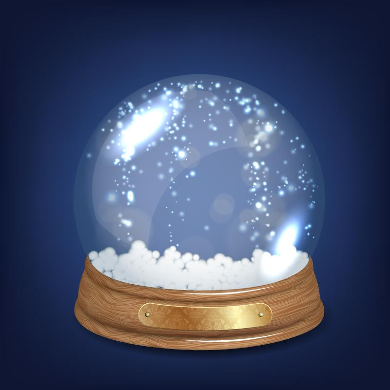 球���*��h�f_创意雪景球矢量素材