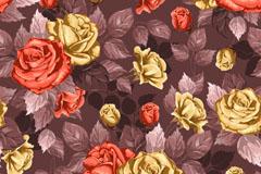 油彩蔷薇背景矢量素材