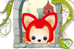 可爱狐狸阿狸插画矢量素材