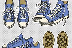 卡通帆布鞋设计矢量素材