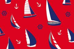复古帆船航海背景矢量素材