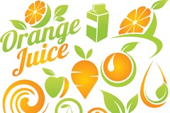 创意水果标志矢量素材