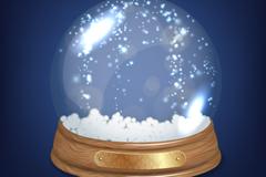 创意雪景球矢量素材