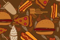 卡通快餐食品插画矢量素材