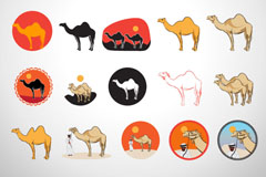 创意骆驼图标矢量素材