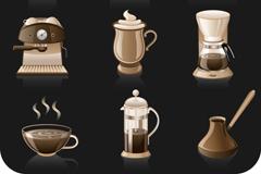 9个精美咖啡图标矢量素材