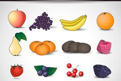 16种精美水果图标矢量素材