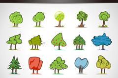 20种精美树木图标设计矢量素材