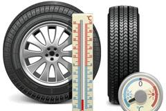 轮胎与胎温胎压检测表矢量素材