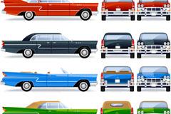 复古汽车设计矢量素材