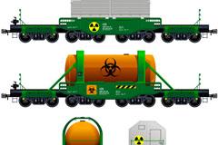 货运列车设计矢量素材
