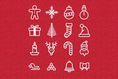 16款圣诞图标设计矢量素材