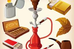 卡通烟元素设计矢量素材