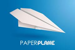 精美纸飞机背景矢量素材