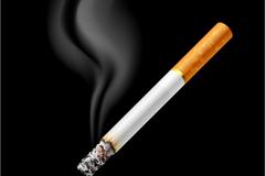 燃烧香烟背景矢量素材