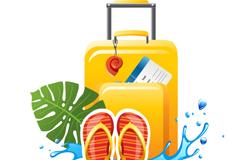 夏日旅行海报矢量素材